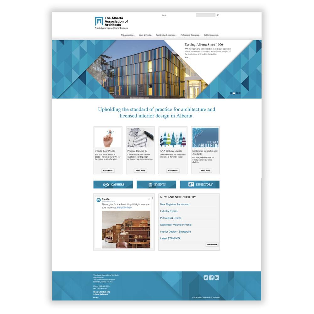 Alberta Association of Architects Website